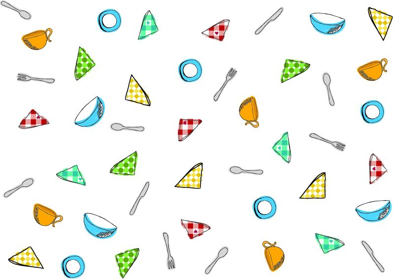 Picnic napkin pattern