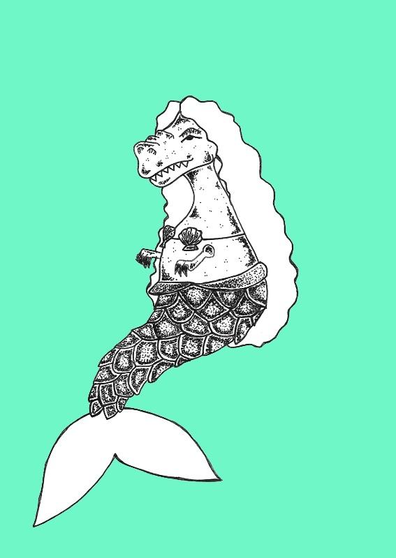 Mermaid Dinosaur