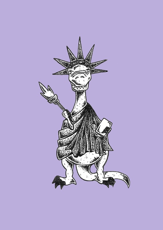 statue of liberty TRex