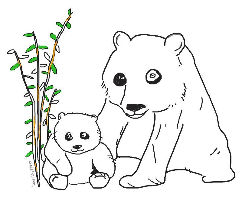 Mummy  Baby Panda