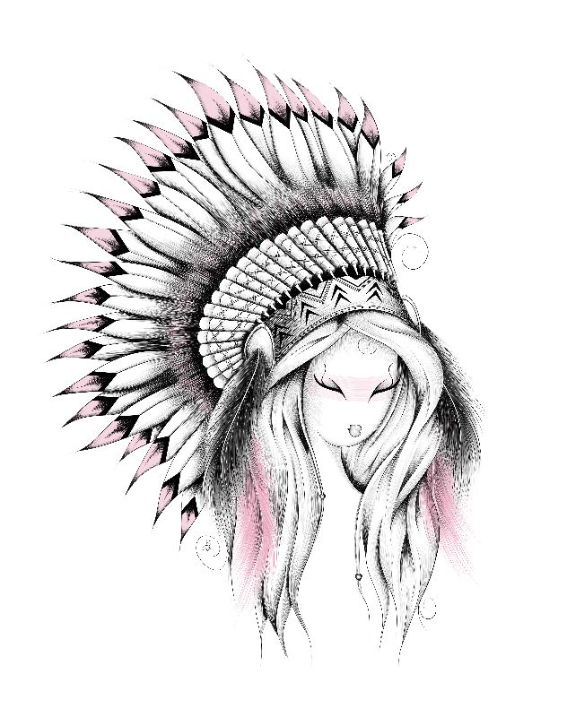 Indian Headdress Pink V