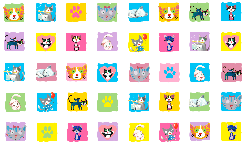just cats pattern