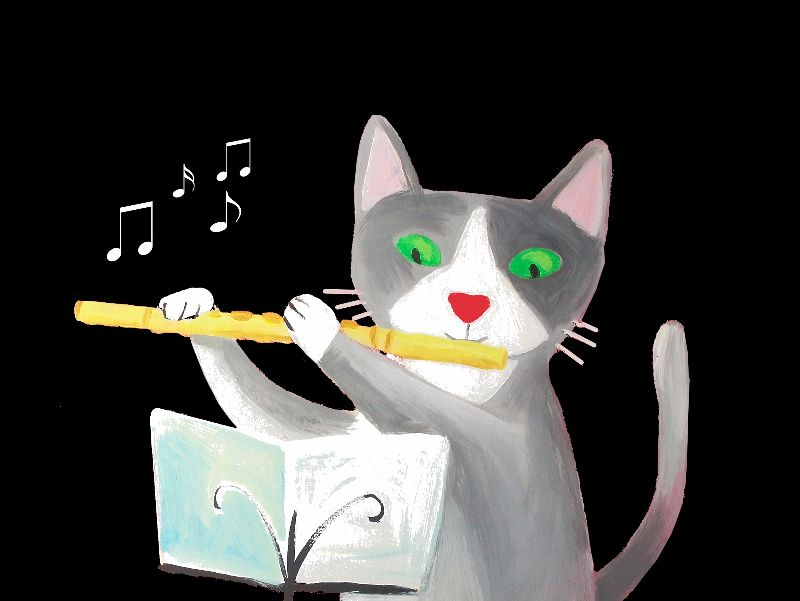 the flutist cat