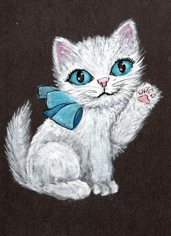 Watercolour Kitten
