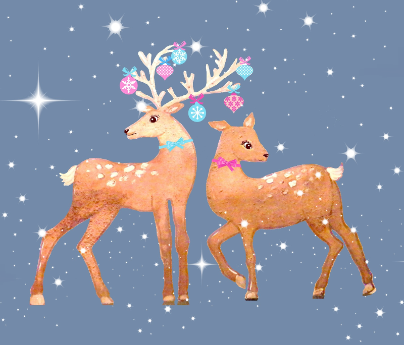 Reindeer with baubles