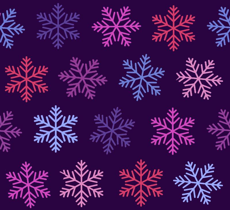 Snowflakes on purple