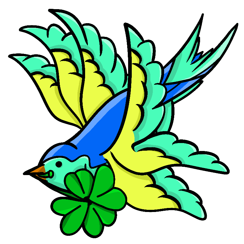 Lucky Shamrock Swallow