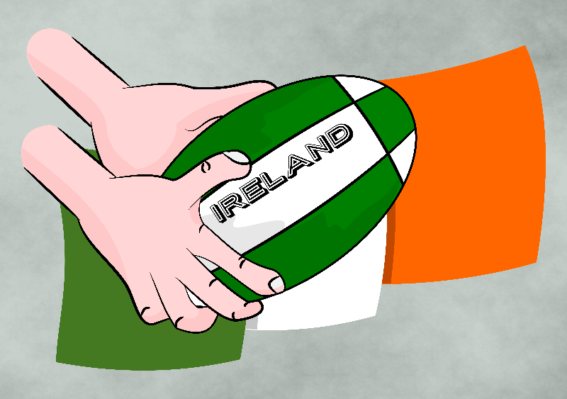 Rugby Ireland Flag