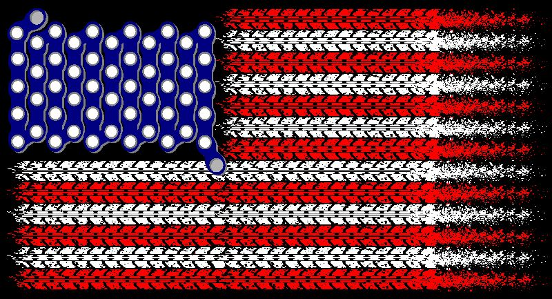 USA Mountain Bike Flag