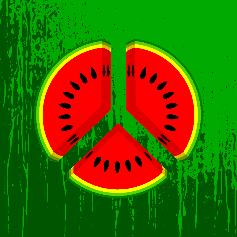 Watermelon Peace Pattern
