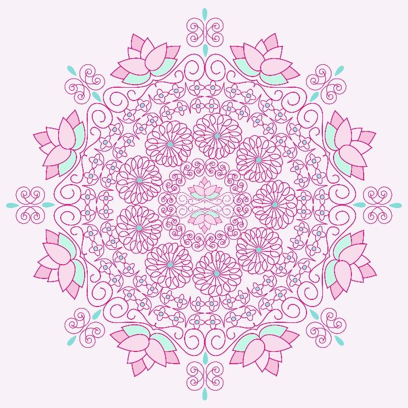 Swirling Petals Mandala