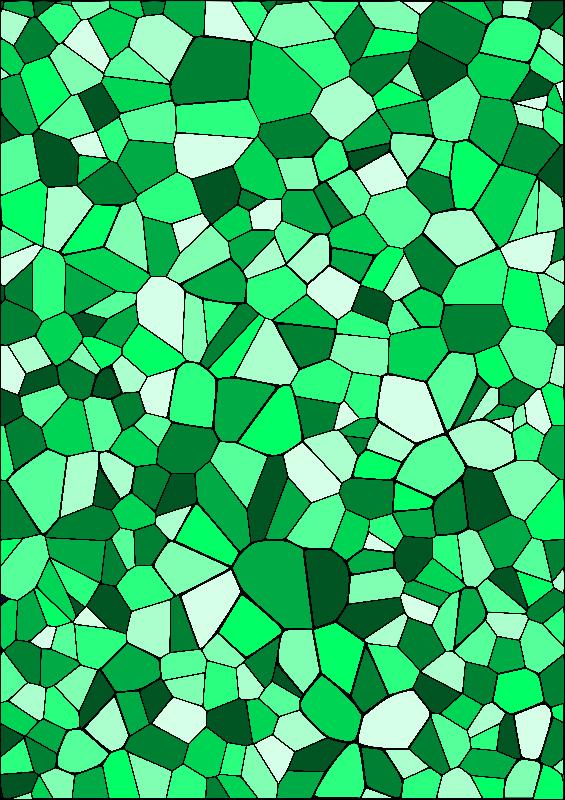 Green Geometric Mosaic