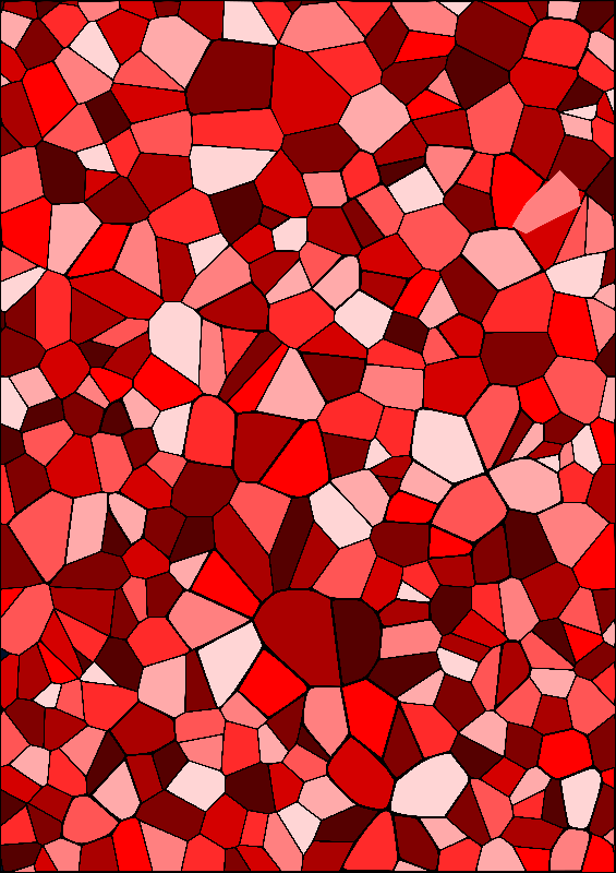 Red Geometric Mosaic