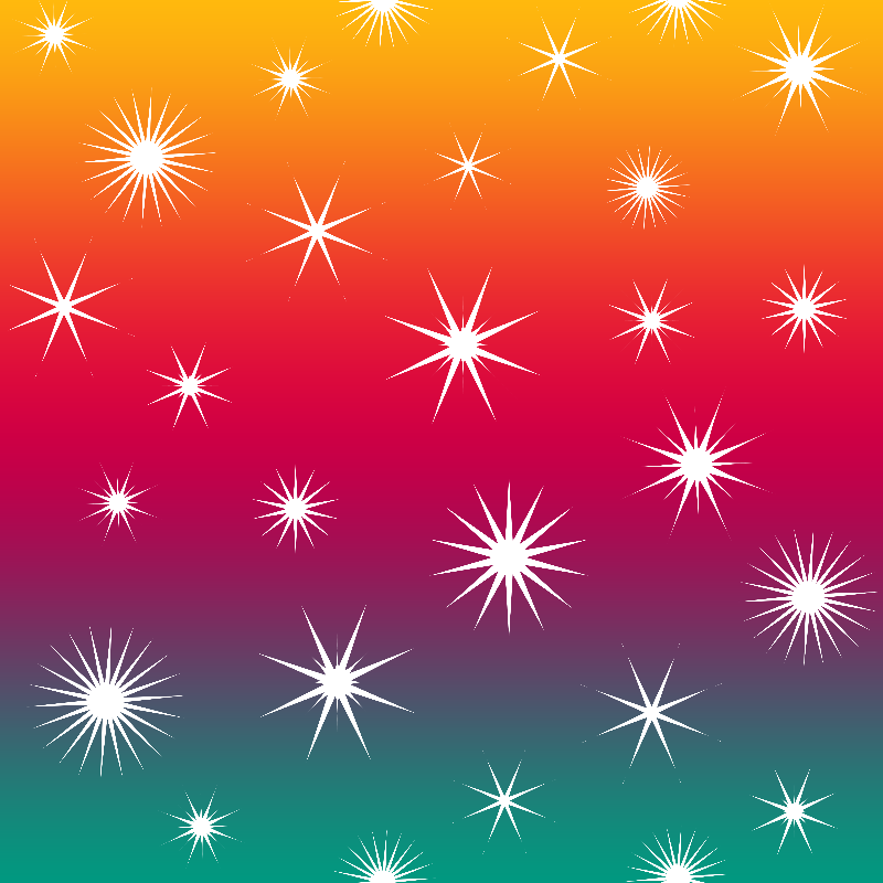 White Stars On Color No2