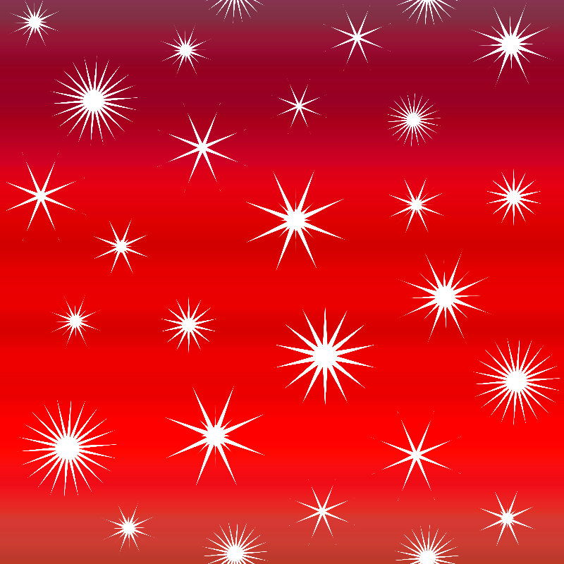 White Stars On Red