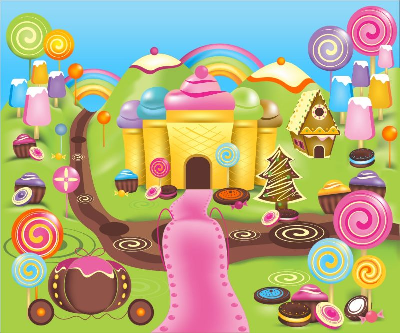 Candy Land  Kids Mural