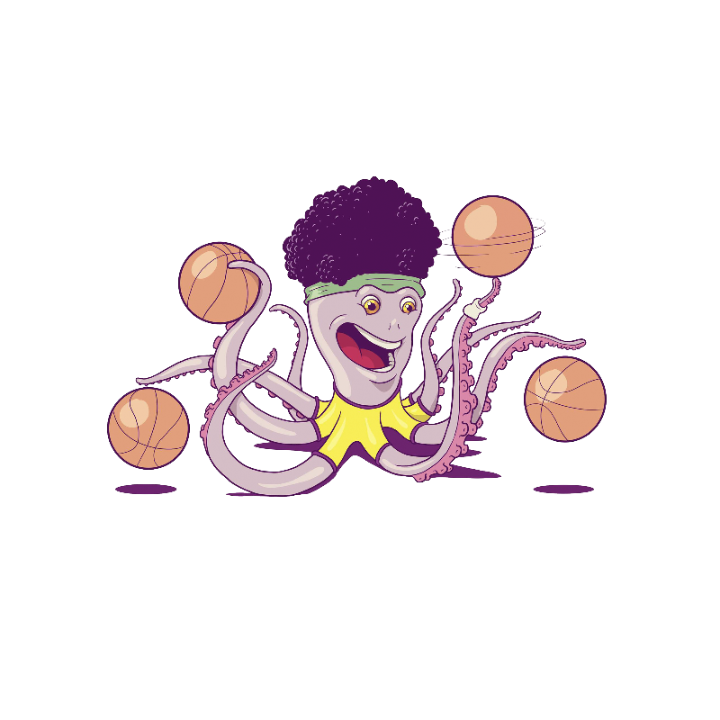Octopus Basketball Player