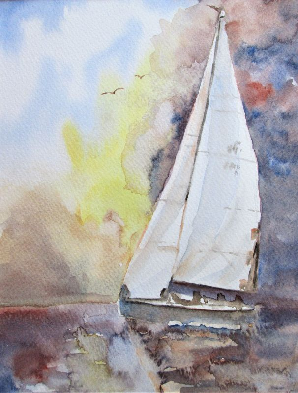 Sailboat and Big Sky