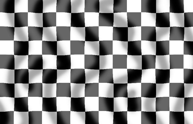 Chequered flag rippled