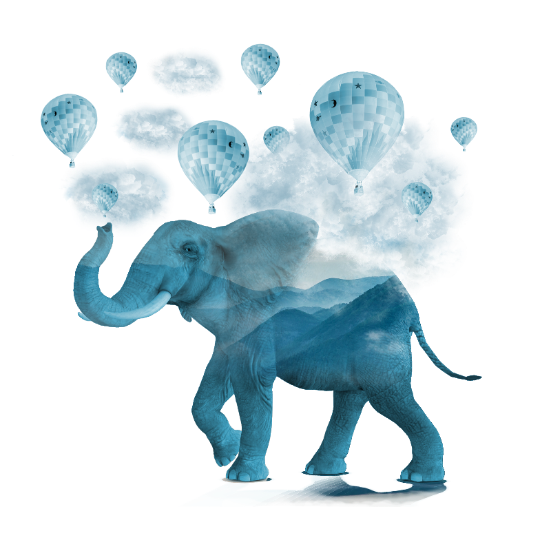 Magical Blue Elephant
