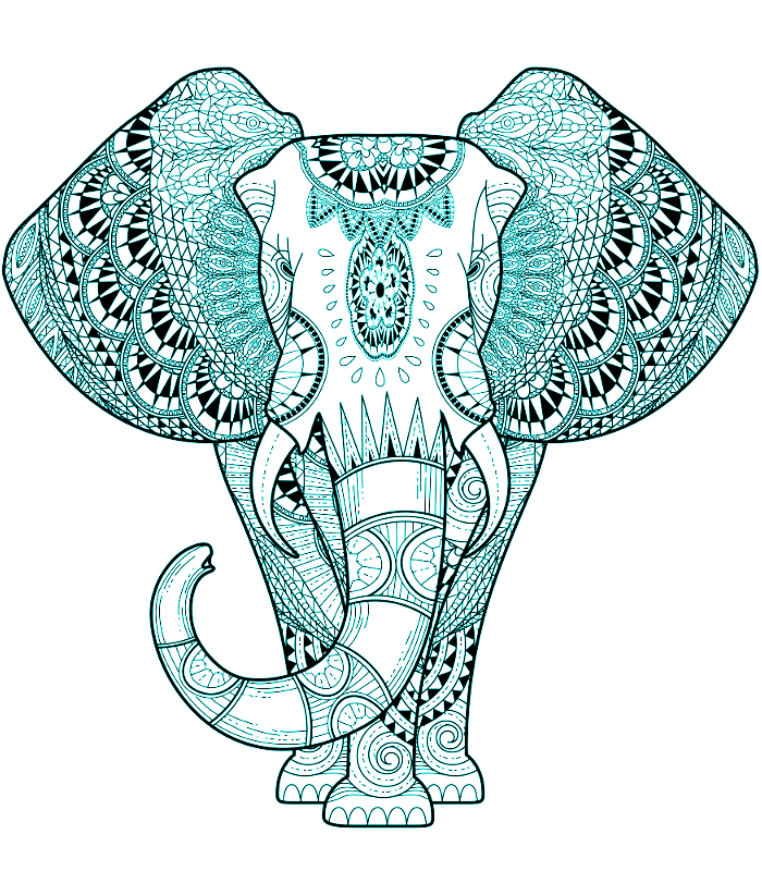 Turquoise Elephant