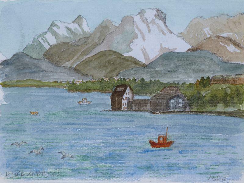 Hjorundfjorden sunrise