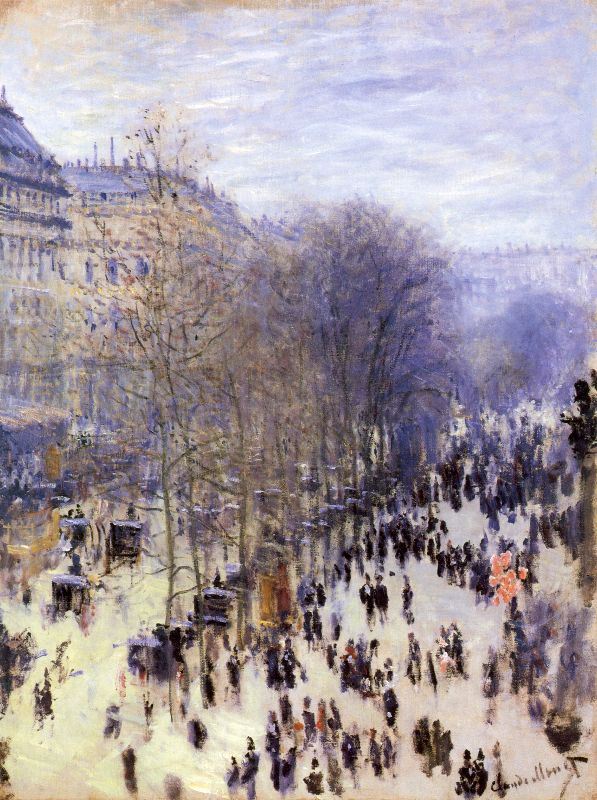 Boulevard by Claude Monet