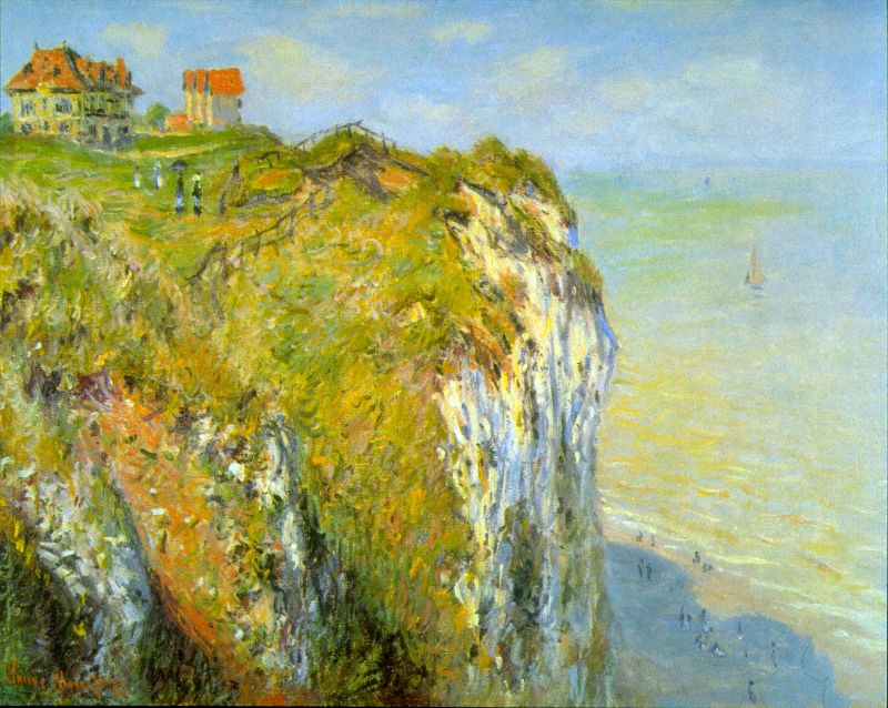 Claude Monet Cliff