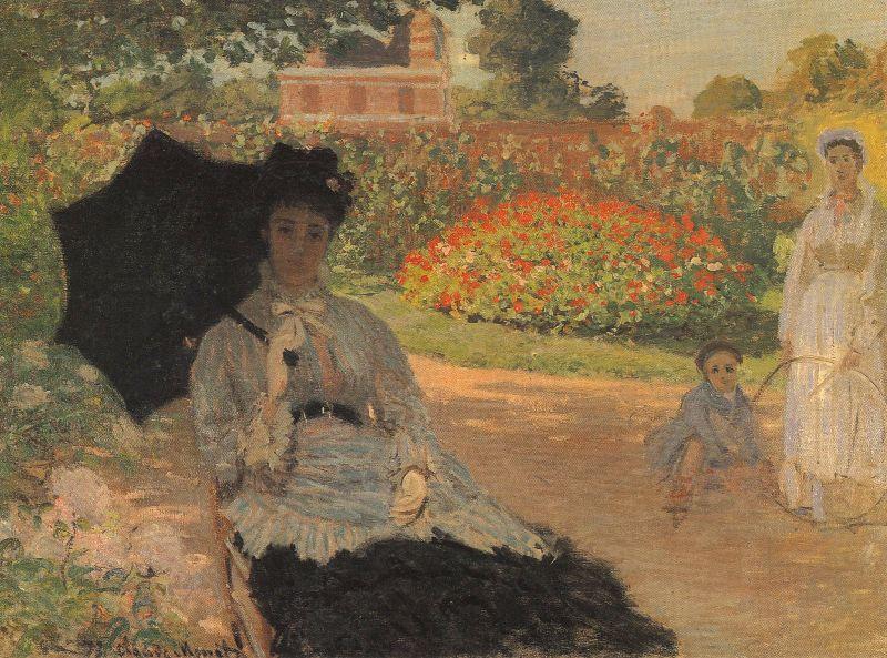 Claude Monet Garden Scene