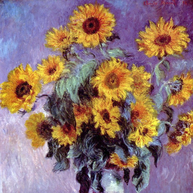 Claude Monet Sunflowers