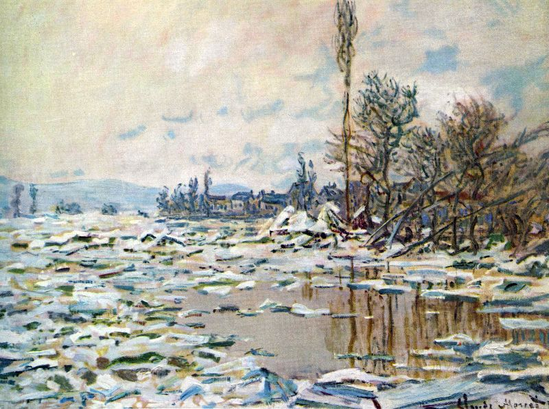 Claude Monet Winter Scene