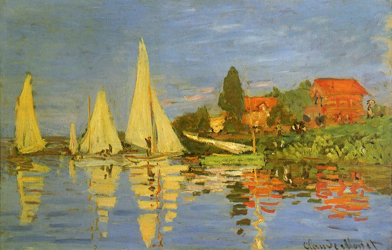 Regatta by Claude Monet
