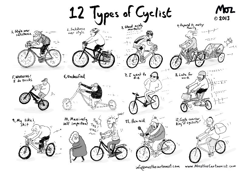 12 Types of Cyclist
