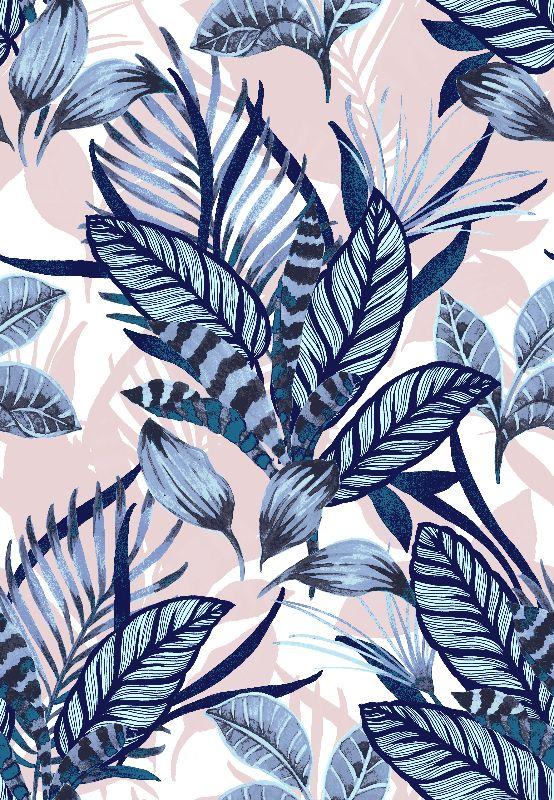 Blue Tropical Leaves