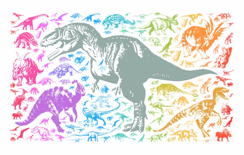 Rainbow dinosaurs t rex