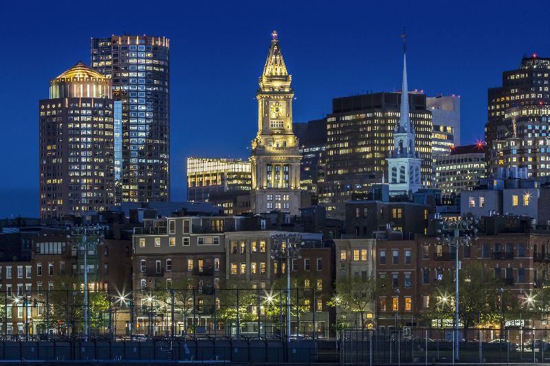 BOSTON Evening Skyline