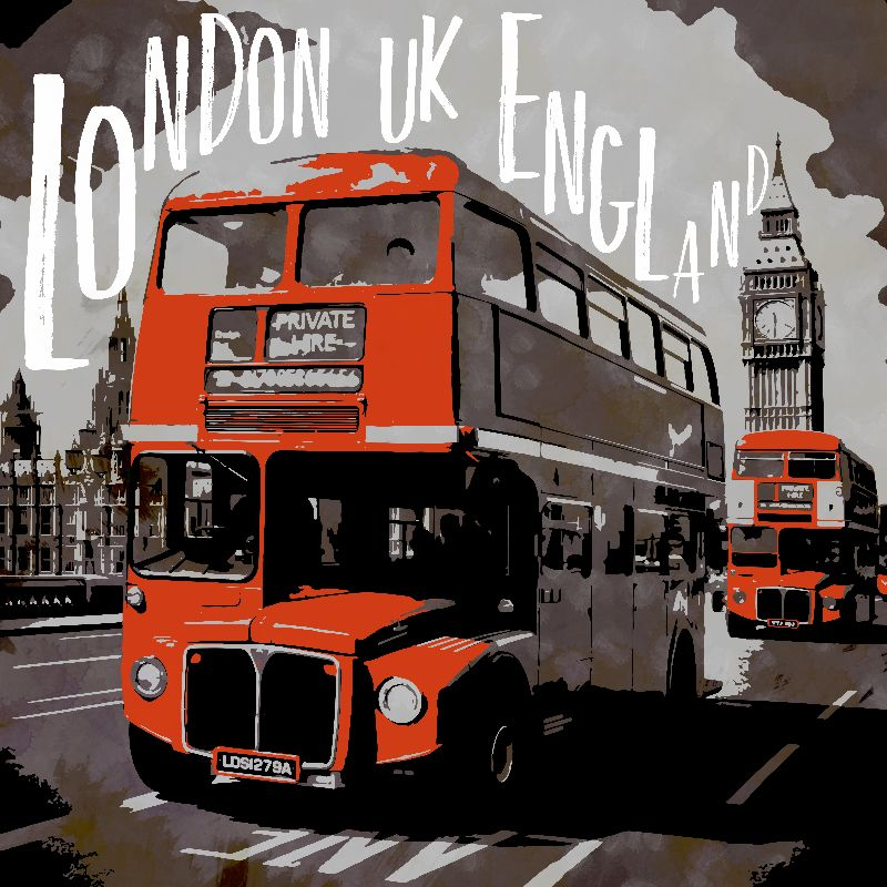 CityArt LONDON Red Bus