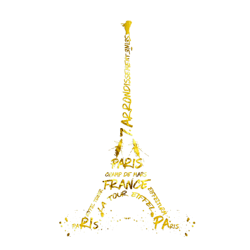 Eiffel Tower whitegold