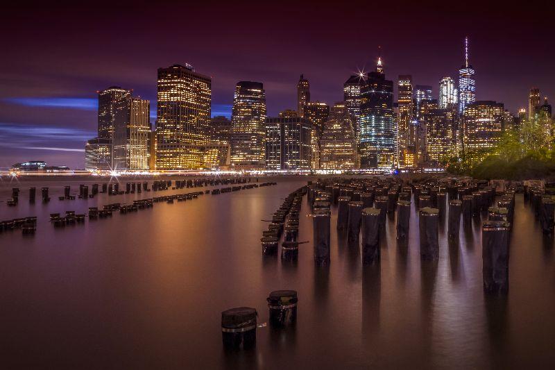 Manhattan Skyline Sunset