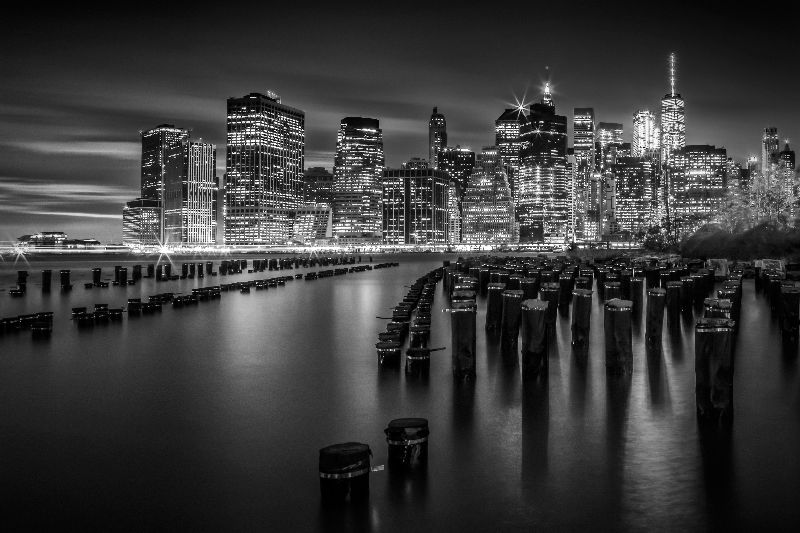 Manhattan Skyline bw