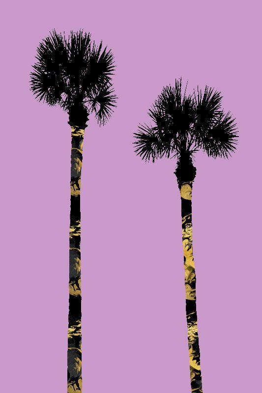PALM TREES pinkblack