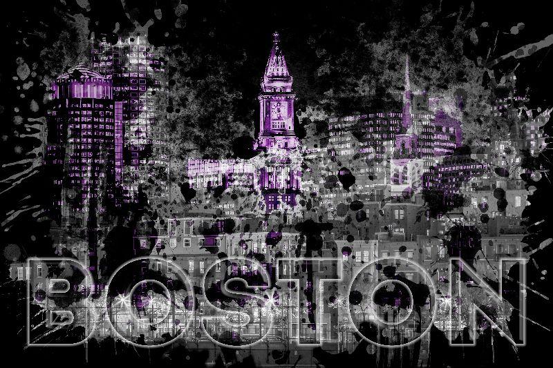 Pop Art BOSTON Skyline I