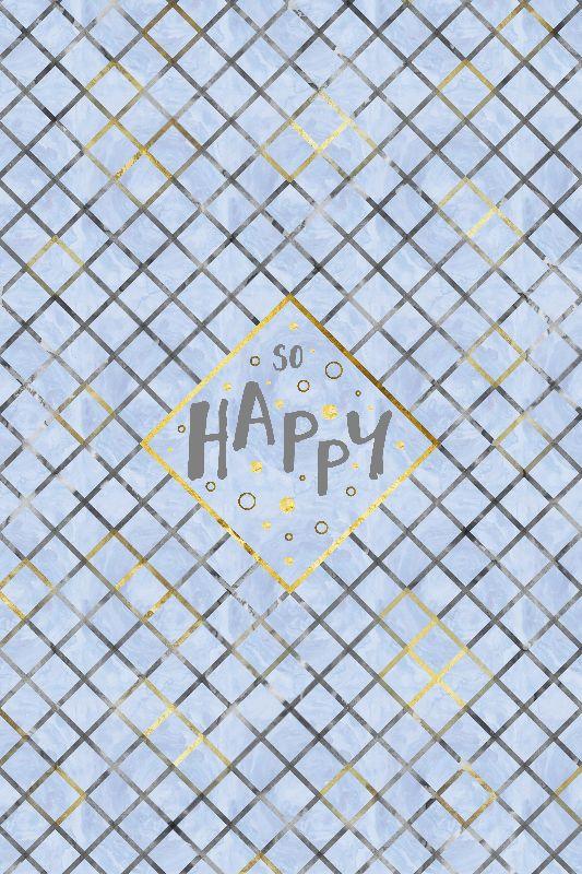 Text Art SO HAPPY  blue