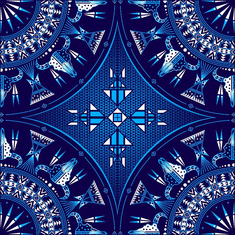 Sacred Buffalo Blue