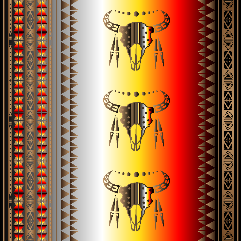 Tribal Buffalo Skulls