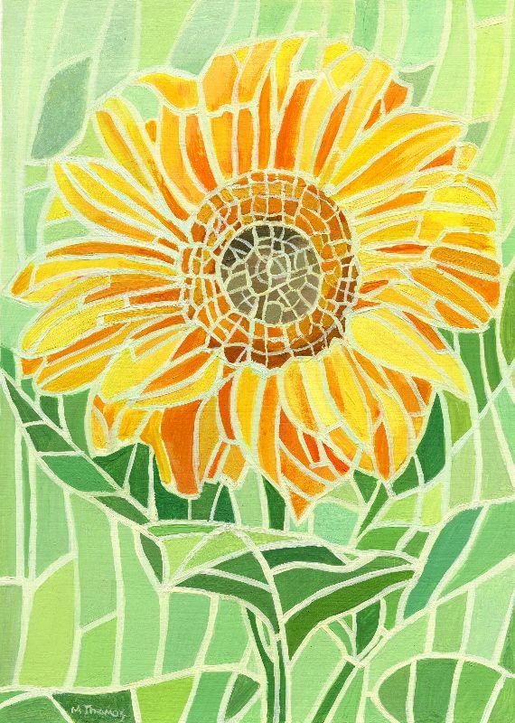 Sunflower Mosaic Artwork