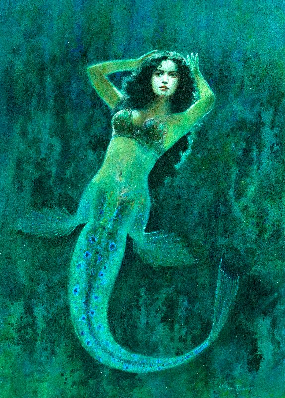 Vintage Surreal Mermaid