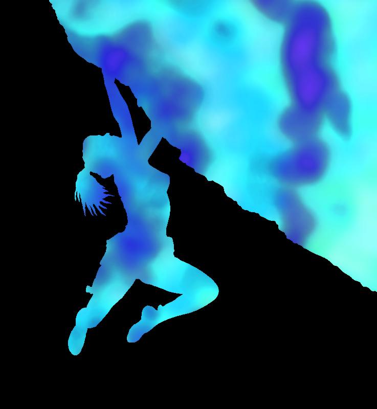 Blue bouldering ecstacy