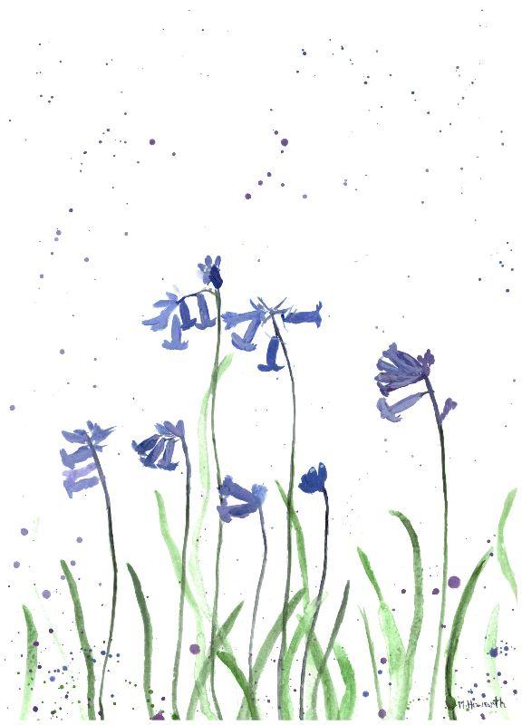 Bluebells watercolour