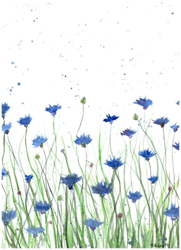 Cornflowers painting